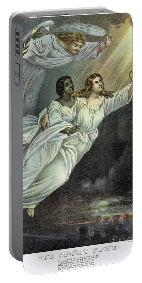 1893 Portable Battery Charger featuring the photograph Currier And Ives: Ghost by Granger