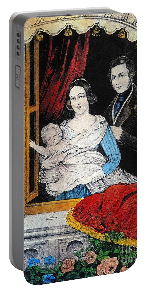 1848 Portable Battery Charger featuring the photograph Currier: Marriage, 1848 by Granger