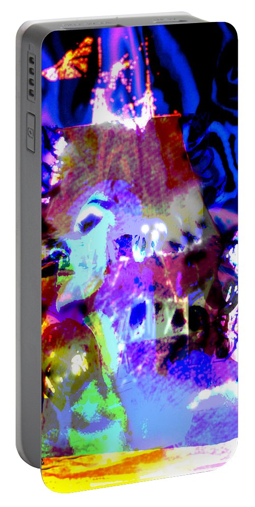 Sea Portable Battery Charger featuring the digital art Curse Of The Sea Witch by Seth Weaver