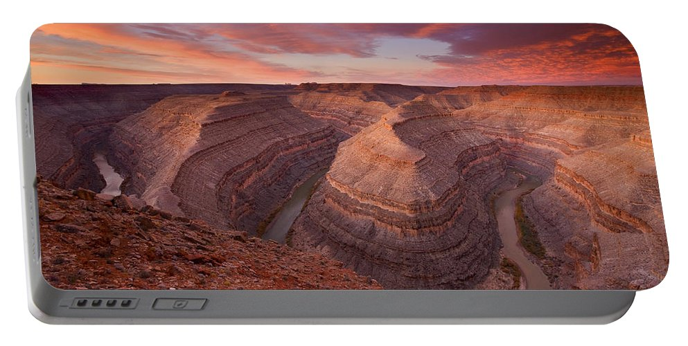 Canyon Portable Battery Charger featuring the photograph Curves Ahead by Mike Dawson