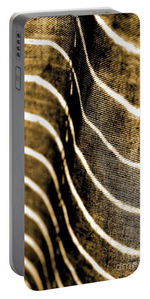 Abstract Portable Battery Charger featuring the photograph Curves And Folds by Todd Blanchard