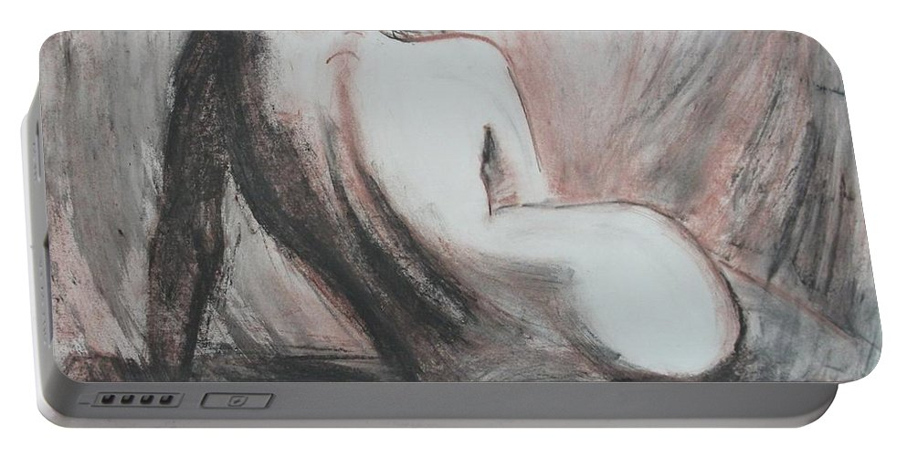 Curves Portable Battery Charger featuring the painting Curves13 by Carmen Tyrrell