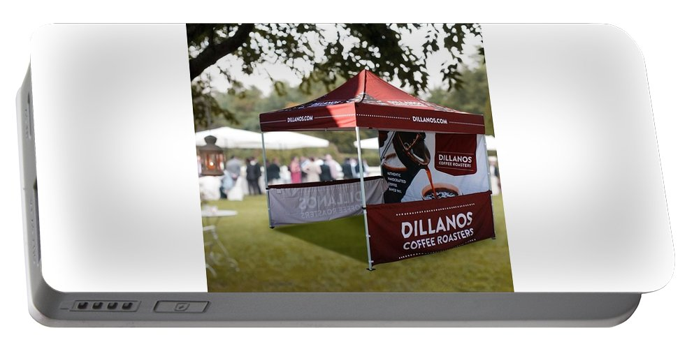 Event Tents Portable Battery Charger featuring the photograph Custom Event Tents For Branding by Markus Blaine
