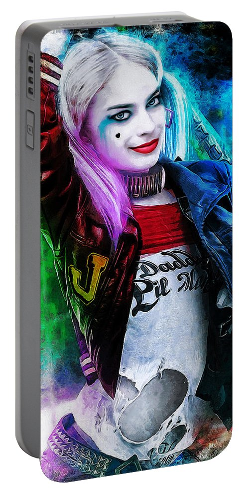 Heroes Portable Battery Charger featuring the digital art Daddys Little Girl by Canvas Cultures