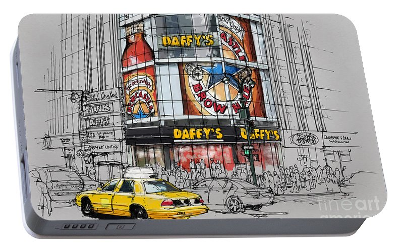 separation shoes 11612 89dcd Daffys New York City Yellow Cab Original Sketch Portable Battery Charger