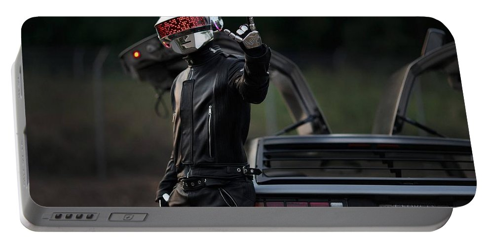 Daft Punk Portable Battery Charger featuring the photograph Daft Punk by Jackie Russo