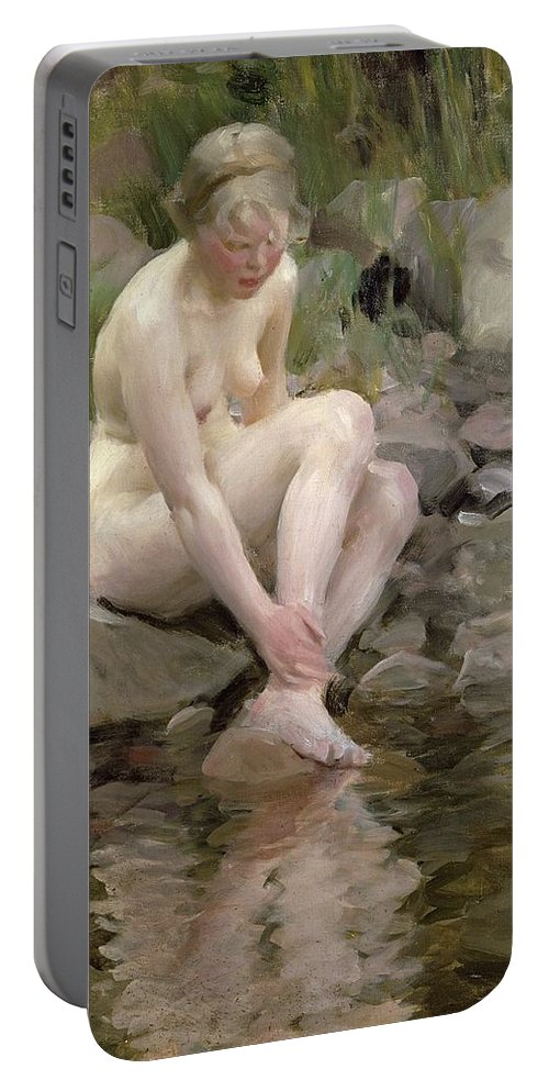 Dagmar Portable Battery Charger featuring the painting Dagmar by Anders Leonard Zorn