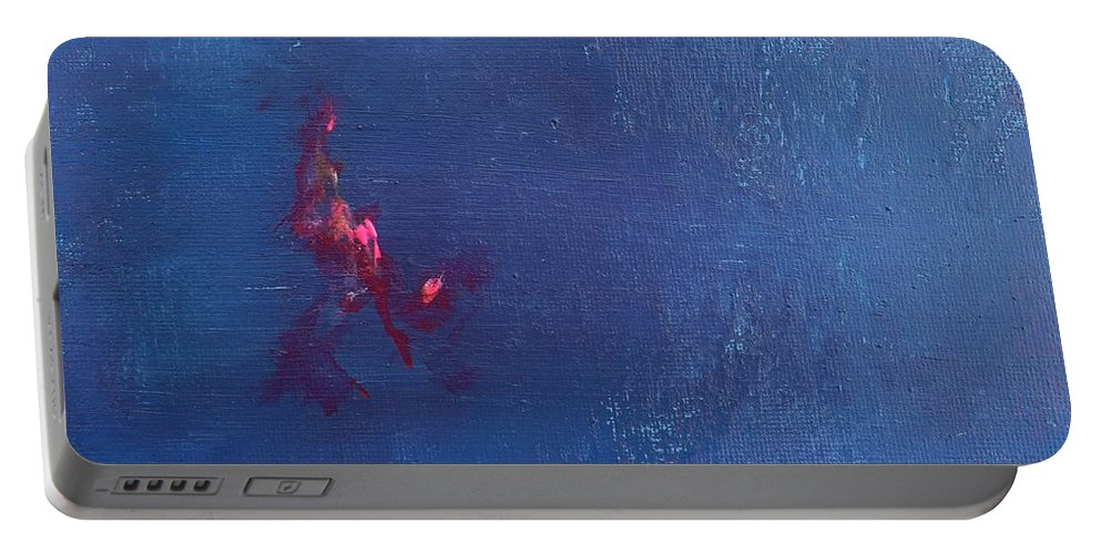 Detail Of Painting Portable Battery Charger featuring the painting Daily Abstraction 218013001b by Eduard Meinema