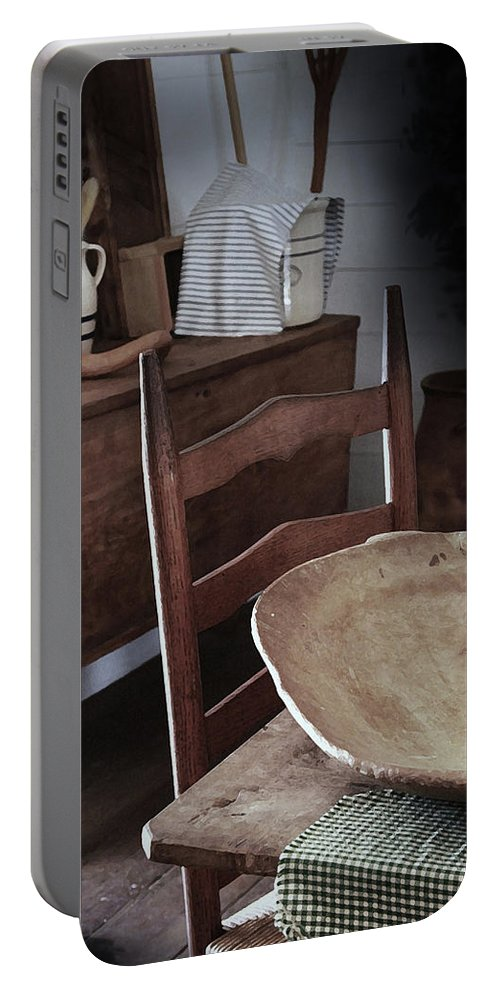 Primitive Kitchens Portable Battery Charger featuring the photograph Daily Bread by Kim Henderson