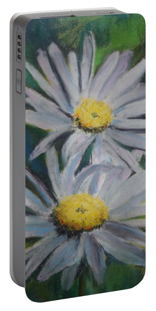 Daisies Portable Battery Charger featuring the painting Daisies by Melinda Etzold