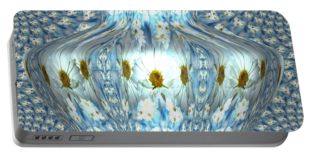 Abstract Portable Battery Charger featuring the photograph Daisy Abstract by Joyce Dickens