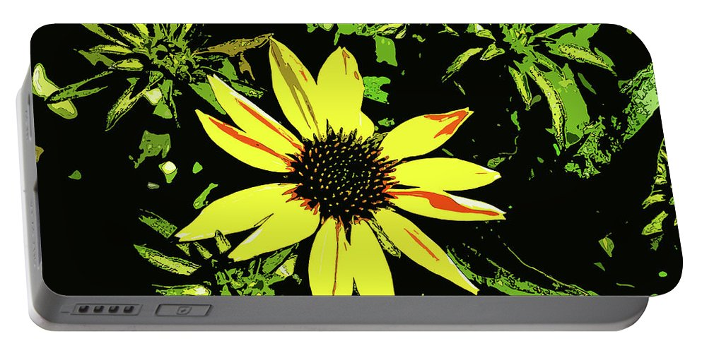 Daisy Bell Portable Battery Charger featuring the photograph Daisy Bell by Susan Vineyard