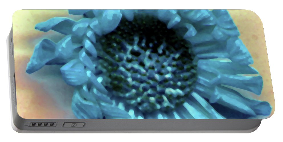 Portable Battery Charger featuring the photograph Daisy Blue by Heather Kirk