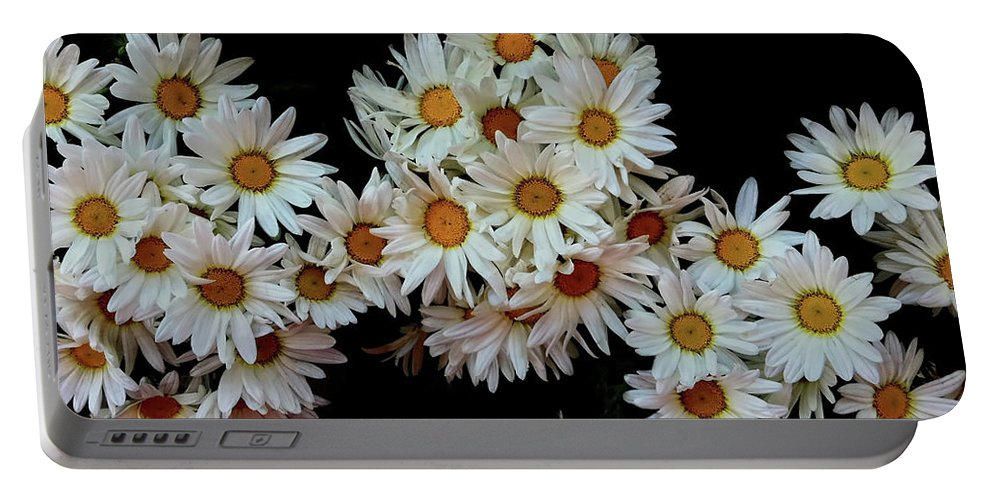 Daisy Portable Battery Charger featuring the photograph Daisy Chain by Donna Blackhall