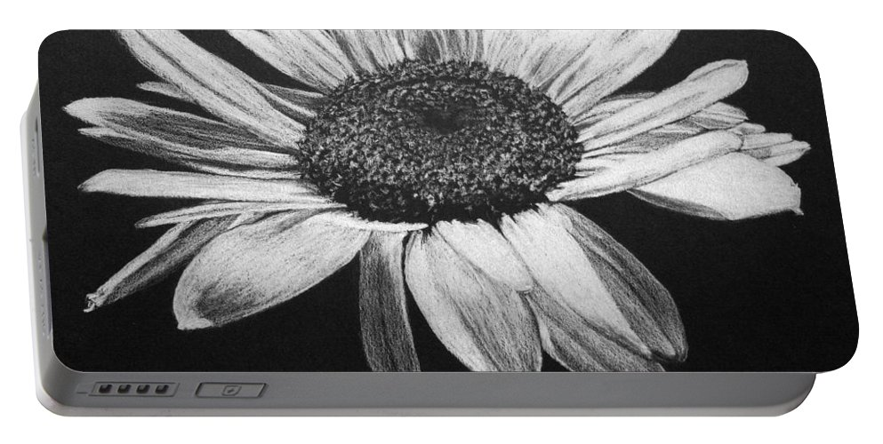 Daisy Portable Battery Charger featuring the drawing Daisy I by Marna Edwards Flavell