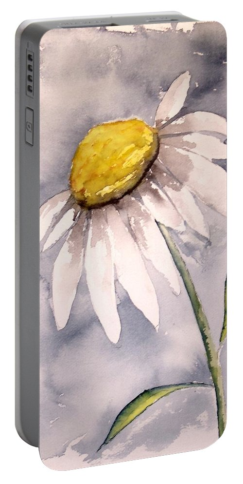 Daisy Portable Battery Charger featuring the painting Daisy Modern Poster Print Fine Art by Derek Mccrea