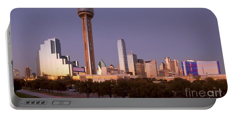 Dallas Portable Battery Charger featuring the photograph Dallas - Texas by Anthony Totah