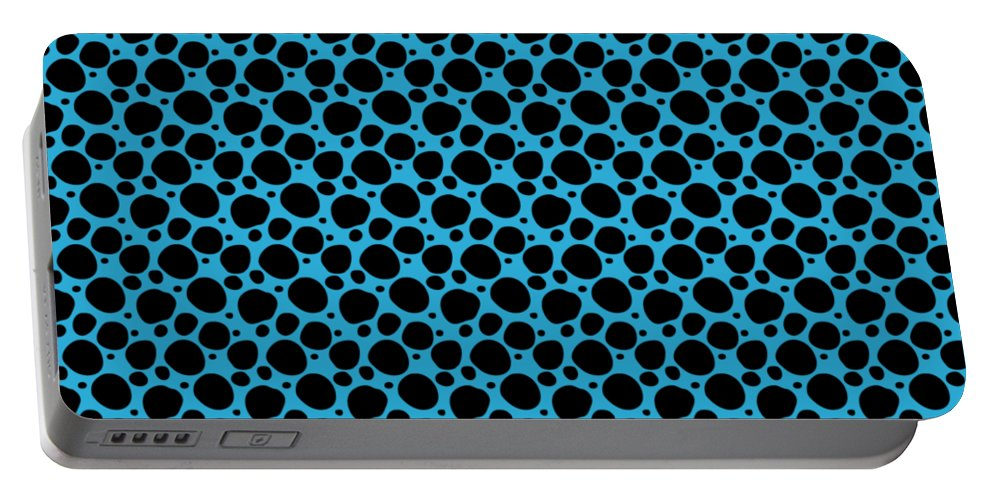 Pattern Portable Battery Charger featuring the digital art Dalmatian Black Pattern 18-p0173 by Custom Home Fashions