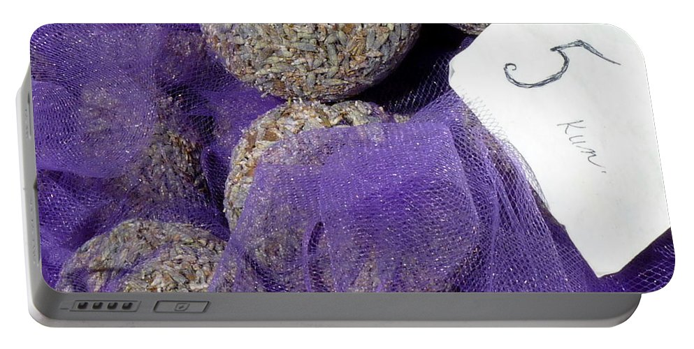 Lavender Portable Battery Charger featuring the photograph Dalmatian Lavender by Carla Parris