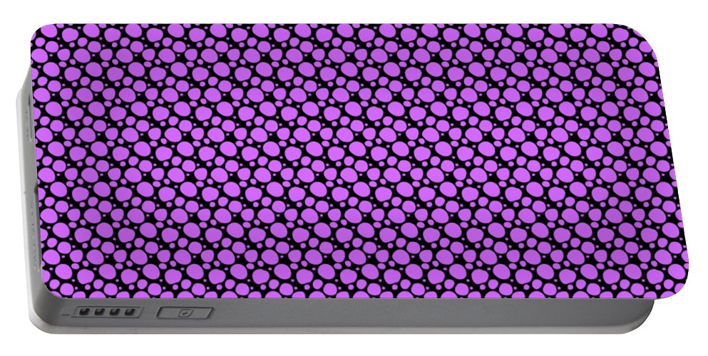 Pattern Portable Battery Charger featuring the digital art Dalmatian Pattern With A Black Background 30-p0173 by Custom Home Fashions
