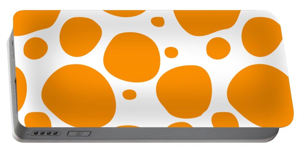 Pattern Portable Battery Charger featuring the digital art Dalmatian Pattern With A White Background 03-p0173 by Custom Home Fashions