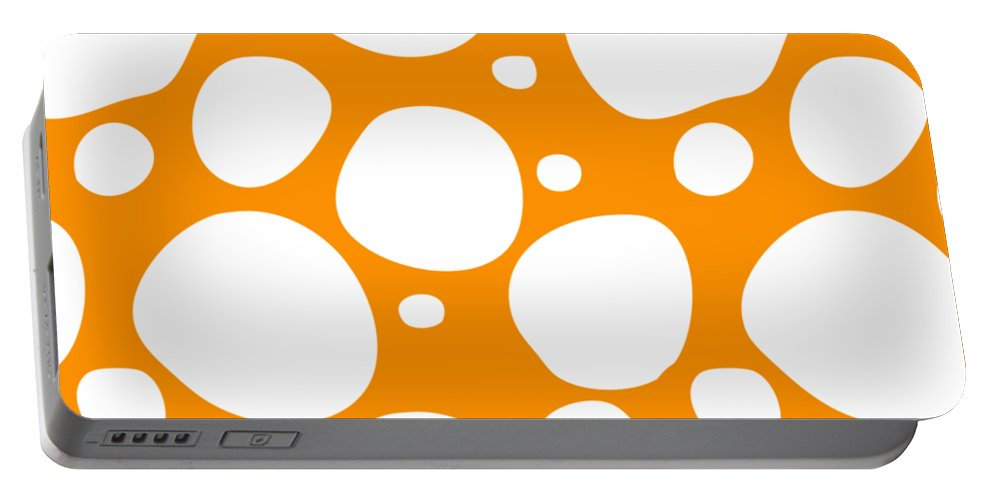 Pattern Portable Battery Charger featuring the digital art Dalmatian White Pattern 03-p0173 by Custom Home Fashions