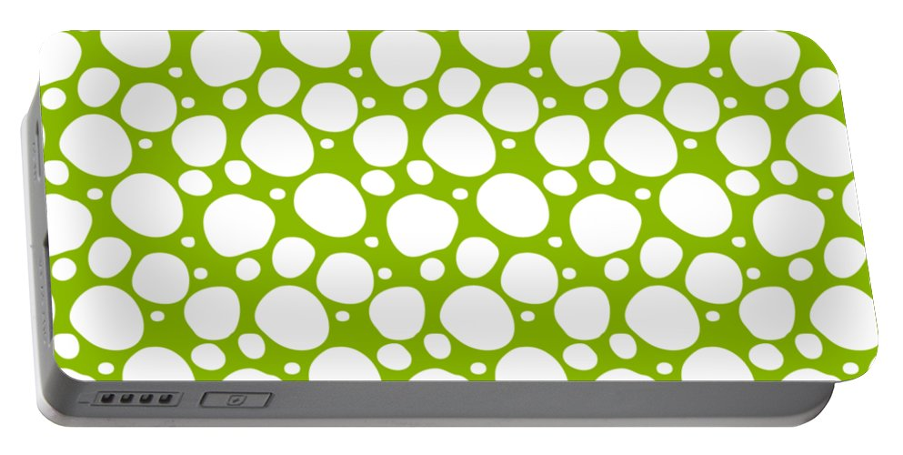 Pattern Portable Battery Charger featuring the digital art Dalmatian White Pattern 09-p0173 by Custom Home Fashions