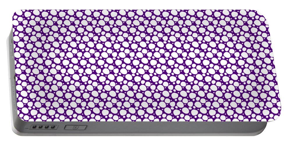 Pattern Portable Battery Charger featuring the digital art Dalmatian White Pattern 30-p0173 by Custom Home Fashions