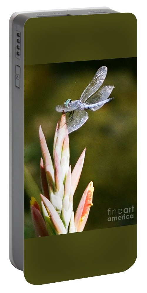 Dragonfly Portable Battery Charger featuring the photograph Damselfly by Dean Triolo
