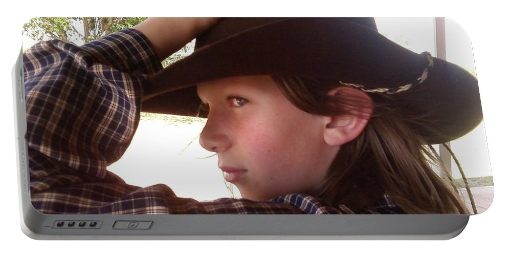 Cowboy Portable Battery Charger featuring the photograph Dan by Cindy New