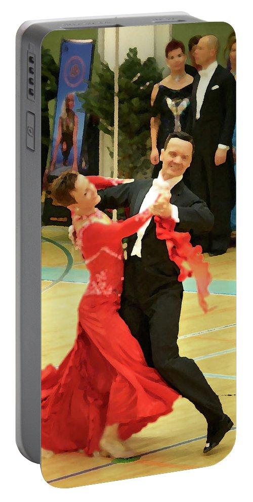 Lehtokukka Portable Battery Charger featuring the photograph Dance Contest Nr 09 by Jouko Lehto