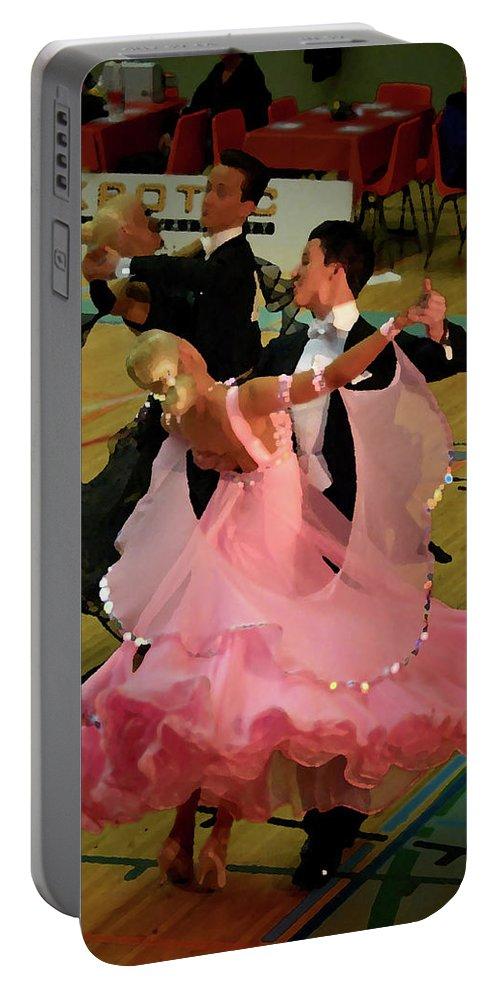 Lehtokukka Portable Battery Charger featuring the photograph Dance Contest Nr 13 by Jouko Lehto