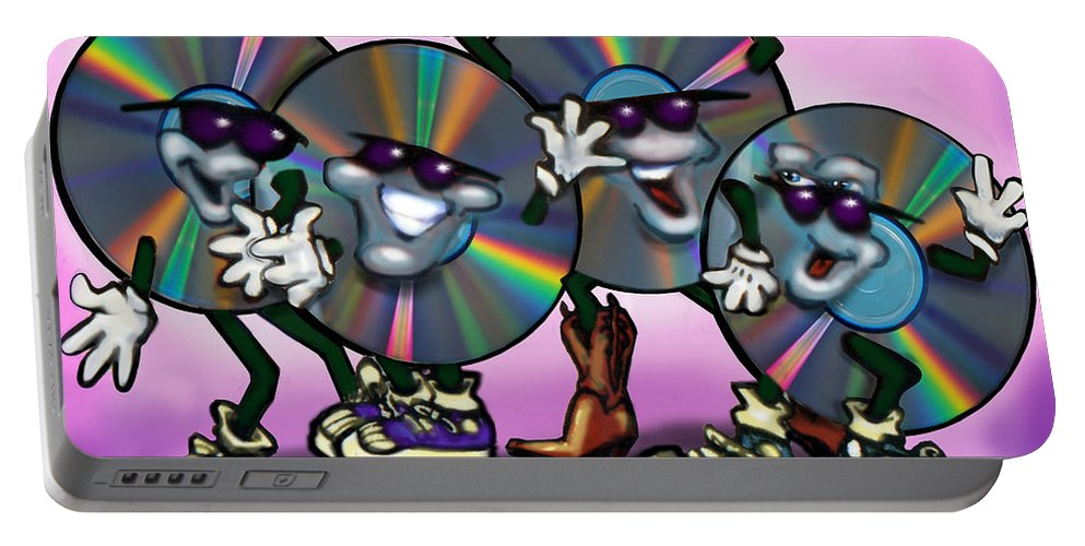 Dance Portable Battery Charger featuring the greeting card Dance Music by Kevin Middleton