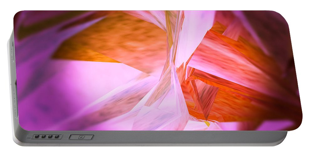Artwork Portable Battery Charger featuring the digital art Dance Of The Peony by Michelle BarlondSmith