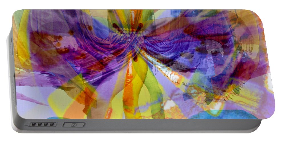 Dance Of The Rainbow Portable Battery Charger featuring the digital art Dance Of The Rainbow by Seth Weaver