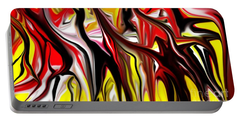 Abstract Portable Battery Charger featuring the digital art Dance Of The Sugar Plum Faries by David Lane