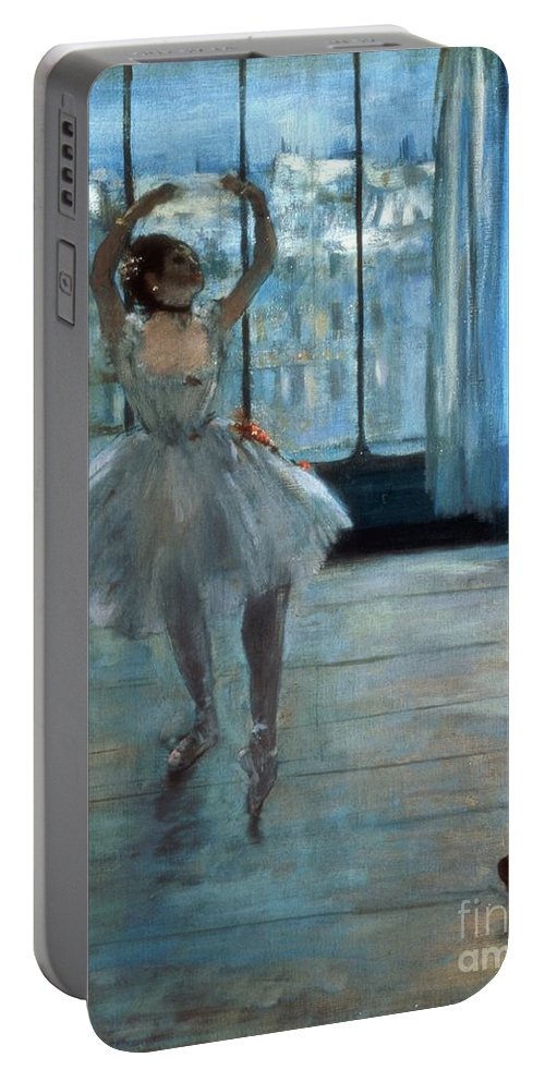 Dancer Portable Battery Charger featuring the painting Dancer In Front Of A Window by Edgar Degas