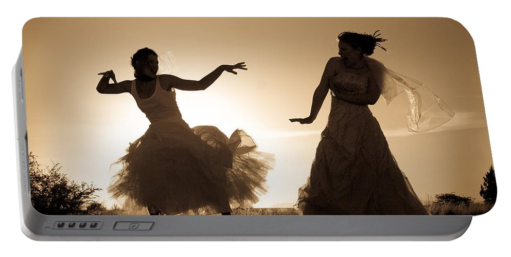 Dancing Girls Portable Battery Charger featuring the photograph Dancing Girls by Scott Sawyer