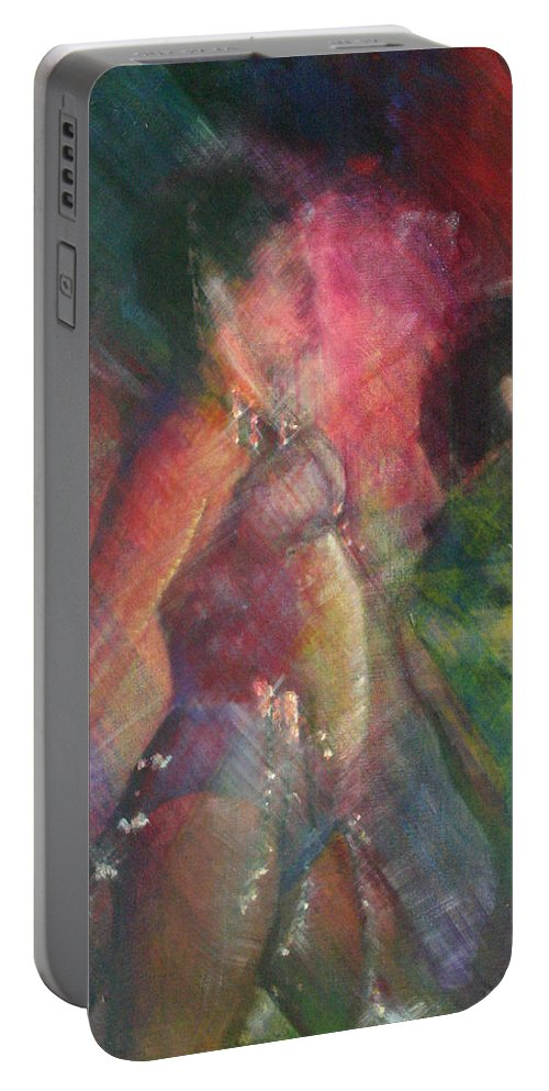 Drawing Portable Battery Charger featuring the painting Dancing Queen by Gideon Cohn