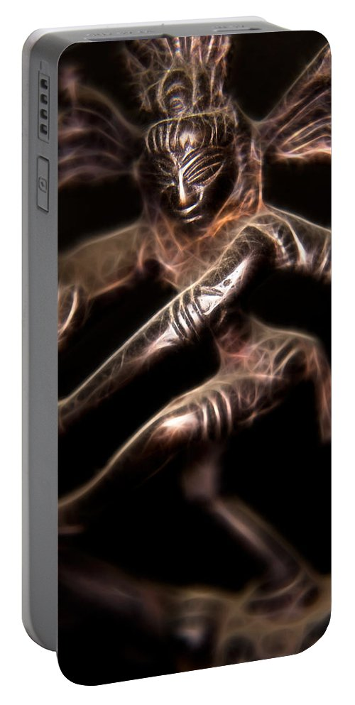 Ayurveda Portable Battery Charger featuring the photograph Dancing Shiva by Rich Leighton