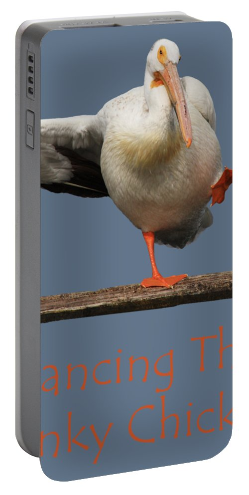 Pelican Portable Battery Charger featuring the photograph Dancing The Funky Chicken by Shane Bechler