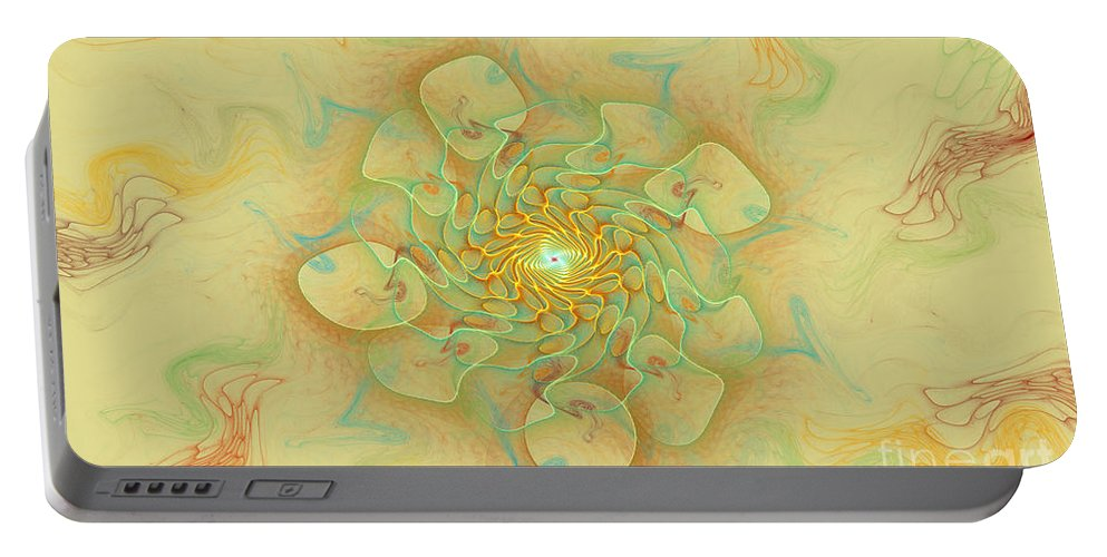 Digital Portable Battery Charger featuring the digital art Dancing With The Spirits by Deborah Benoit