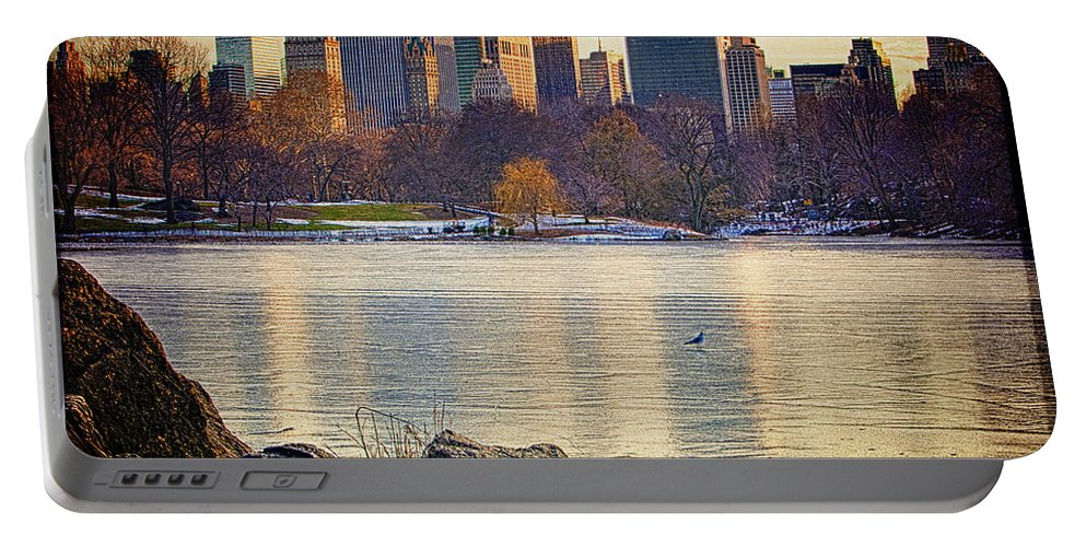 Central Park Portable Battery Charger featuring the photograph Danger - Thin Ice by Chris Lord