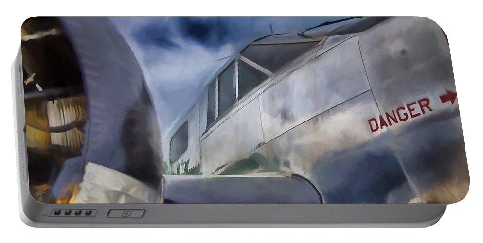 Plane Portable Battery Charger featuring the digital art Danger IIi by Ronald Bolokofsky