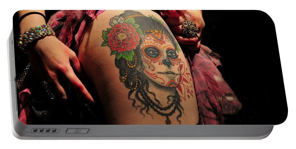 Tattoo Portable Battery Charger featuring the photograph Dangerous Liaisons by David Lee Thompson