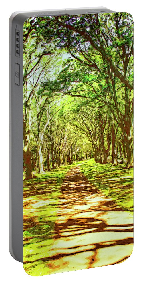 Summertime Portable Battery Charger featuring the painting Dappled by Dominic Piperata