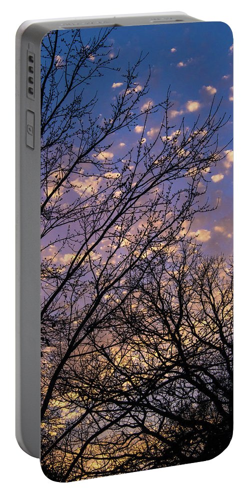 Sunset Portable Battery Charger featuring the photograph Dappled Sunset-1547 by Oonabot Photography