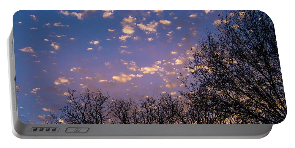 Sunset Portable Battery Charger featuring the photograph Dappled Sunset-1548 by Oonabot Photography