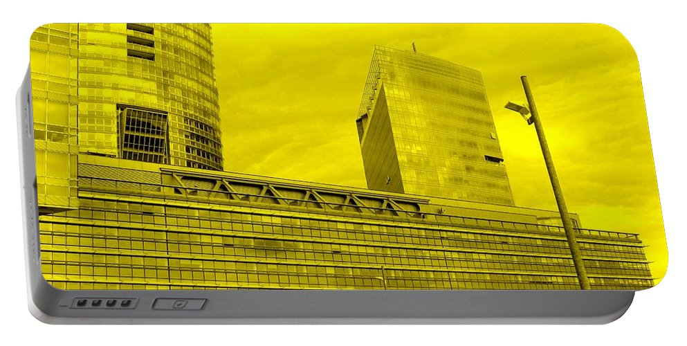Vienna Portable Battery Charger featuring the photograph Daring Architecture by Ian MacDonald