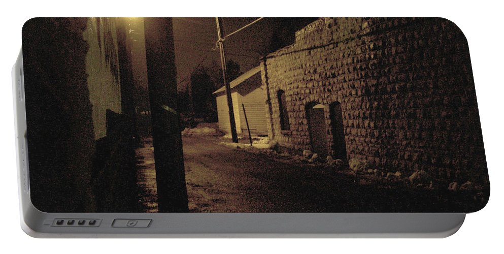 Alley Portable Battery Charger featuring the photograph Dark Alley by Tim Nyberg